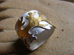 Golden seaweed wrap ring by corryvreckan