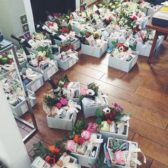 Ready to spread some gift box love around this city! Diy Gift Baskets, Gift Hampers, Homemade Gifts, Diy Gifts, Holiday Gifts, Christmas Gifts, Baby On A Budget, Flower Boxes, Corporate Gifts