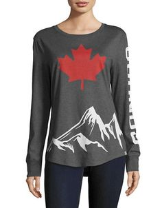 CANADIAN OLYMPIC TEAM COLLECTIONWomens Long Sleeve Mountain Peak T-Shirt