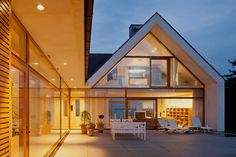 Modern home with Pitched roof