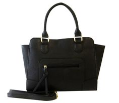Top Black Valero Large Vegan Faux Leather Convertible Mini Satchel Shoulder Bag Purse Handbag by TravelNut Best Unique Cool Birthday Stocking Stuffer Christmas Gift Idea Women Girl Teen Her Wife. These stylish over the shoulder tote handbags are the perfect complement for your every activity--work or play!. Dress up every outfit with this colorful leather-like accessory with gold accents. Roomy enough to carry all your essentials but not so large as to slow you down this satchel will do…