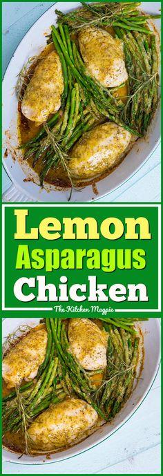Rosemary Lemon Chicken & Asparagus Dinner