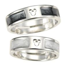 Mickey Mouse Icon Black & White Ring Set