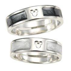 Mickey Mouse Icon Black & White Ring Set