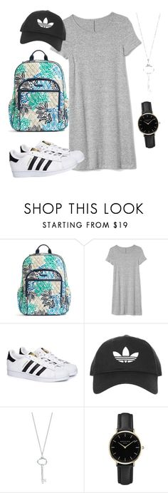 """Untitled #57"" by steph11nicole on Polyvore featuring Vera Bradley, Gap, adidas, Topshop, Tiffany & Co. and ROSEFIELD"