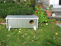An insulated feral cat shelter crafted by Ian Henry. (Photo by Ashot Karamian).  Cats do 'survive' I guess, but what a harsh life on the streets especially in cold weather.  If more people were responsible with spay/neutering there wouldn't be the suffering of so many.