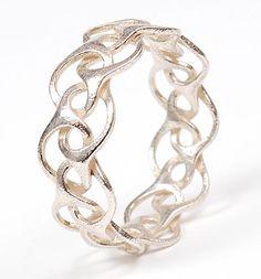 HANS APPENZELLER 1949 - Zilveren armband 3D geprint ontwerp uitvoering ca.2000