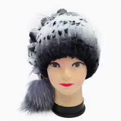 Winter Fur Beanies For Women Natural Rex Rabbit Fur Hats With Balls 2016 Casual Warm Trendy Fur Beanies Cap Customized Women Hat