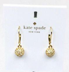 "Kate Spade Women's ""Ring It Up"" Gold tone Crystals Drop Earrings Kate Spade Earrings, Dangles, Drop Earrings, Crystals, Gold, Jewelry, Jewlery, Jewerly, Schmuck"
