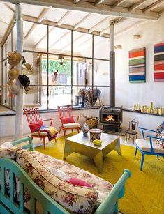 Diferentes cores e texturas.  Fotografia: http://www.desiretoinspire.net
