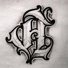 Typography Drawing, Chicano Lettering, Graffiti Lettering Fonts, Typography Letters, Lettering Design, Hand Lettering, Tattoo Lettering Styles, Tattoo Script, 27 Tattoo