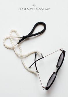 DIY Pearl Sunglasses Strap Acessorios Para Oculos, Cordão Para Oculos, Cordinha  Oculos, Pingente 0b62d6c30e