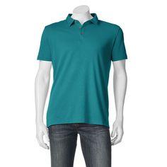 Big & Tall Apt. 9® Solid Modern-Fit Polo, Men's, Size: Xl Tall, Dark Blue