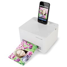 The iPhone Photo Printer - This is the compact, portable printer that produces photo quality pictures directly from a docked iPhone 5/5s/5c or iPod Touch.