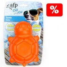 Esta tortuga es el juguete perfecto para tu perro.  Con él, se lo pasarán en grande jugando en el agua, ya que flota.