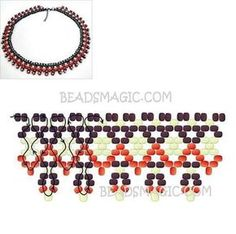 Image result for collar pechera mostacilla paso paso Beaded Necklace Patterns, Beaded Earrings, Beaded Bracelets, Necklaces, Beading Patterns Free, Beading Tutorials, Beaded Collar, Embroidery Jewelry, Bead Weaving