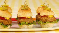 Mini Turkey Cheeseburgers