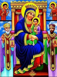 l am maryam l love you Religious Paintings, Religious Art, African Culture, African Art, Madonna, Holly Pictures, Church Icon, Eritrean, Avatar The Last Airbender Art