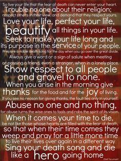 tecumseh poem - act of valor