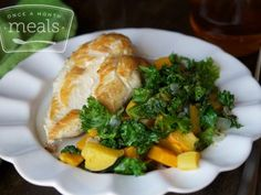 spiced chicken squash and kale