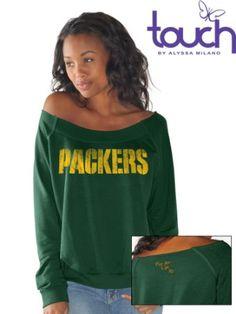 Amazon.com: Green Bay Packers Draft Choice Off-Shoulder Long Sleeve Women's Sweatshirt: Sports & Outdoors