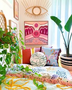 Boho design and decor can be intimidating, but this inspiration proves you can bring the boho look home. Boho decor ideas and design have never been so doable, no matter the space you're working with. Bedroom Colors, Bedroom Decor, Wall Decor, Boho Designs, Eclectic Decor, New Room, Decoration, Room Inspiration, Boho Decor