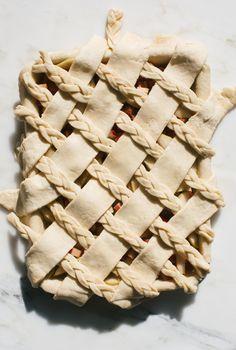Rhubarb Pear Slab Pie   A Cozy Kitchen   Bloglovin'