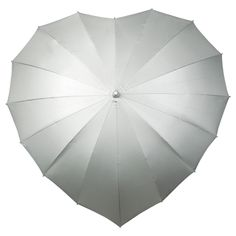 Heart Shaped Windproof Umbrella in silver with UV Protection &11 more colours - £18.99 available from www.hellobrolly.co.uk