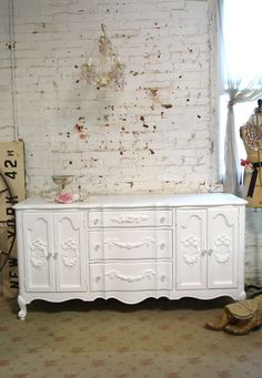 Painted Cottage Chic Shabby French Dresser [DR832] - $695.00 : The Painted Cottage, Vintage Painted Furniture