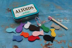 Pocket Sized Magnetic Fishing Set in Altoids tin, good to keep in purse for restaurant wait time