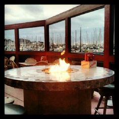 A short walk from the #MontereyInstitute, the London Bridge Pub sits right on the harbor. A great place to sit outside around one of their fireplace tables.
