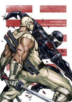 Snake Eyes and Storm Shadow by RecklessHero.deviantart.com on @deviantART