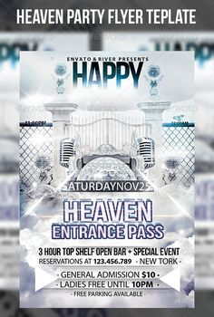PSD  Heaven Gates Flyer Template  • Only available here ➝ http://graphicriver.net/item/heaven-gates-flyer-template/6865989?ref=pxcr