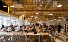 NEW GOOGLE HQ LONDON -'Market Square' seating area