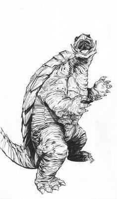 GAMERA fan art by comics artist Joëlle Jones. $75.00, via Etsy.