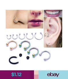 Horseshoe Barbell Bar Pointed End Piercing Surgical Steel Nose Septum Nipple Ear Elegant And Sturdy Package Body Piercing Jewelry Body Jewelry