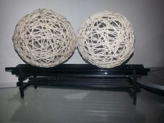 My creation.. home decor yarn balls..