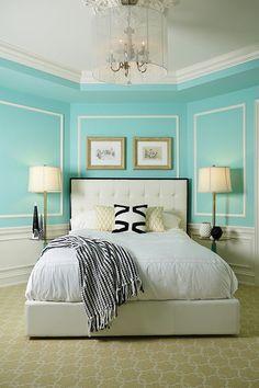 Tiffany blue living room decor blue living room decor home ideas bedroom take a home decorating Aqua Bedrooms, Coral Bedroom, Blue Bedroom Walls, Blue Bedroom Decor, Bedroom Turquoise, Blue Living Room Decor, Bedroom Green, Bedroom Ideas, Small Bedrooms
