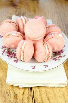 Macarons with Champagne Buttercream from http://missinthekitchen.com