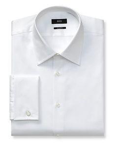 BOSS Black Lawrence Textured Solid Dress Shirt - Regular Fit | Bloomingdale's