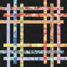 beautiful in batik quilt idea. Great way to use batik scraps by maura