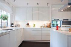 Cocina blanca sin tirador