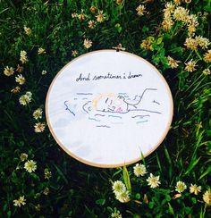 #Hoop #Bastidor #Embroidery #Broder #Bordados #Handamade #Feitoàmão #Ilustration #Nedlework #Nedlepoint #Contemporanyembroidery #Girls #LittleStitches&Pat Sousa #Bordar #Stitching