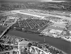 Synthetic cities to hide bombers in WWII