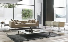 Cloud can be covered with leather or fabric in a wide range of colours. The wooden frame is covered with polyurethane foam and a feather cushion. Outdoor Furniture Sets, Outdoor Decor, Polyurethane Foam, Wooden Frames, Living Room Furniture, Sofas, Cushions, Clouds, Interior Design