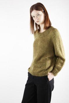 Jersey Oversized en oliva | Knitwear | SYSTEM ACTION