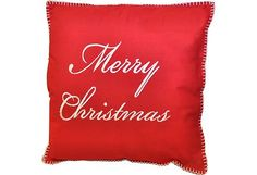 Punainen puuvilla tyyny, kaunis valkoinen prodeeraus Merry Christmas, vetoketjukiinnitys, sisätyyny sisältyy, koko: 45x45 cm Drink Sleeves, Merry Christmas, Reusable Tote Bags, Merry Little Christmas, Wish You Merry Christmas