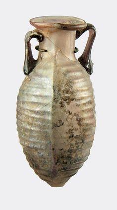Roman purple glass amphora;