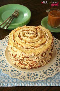 Butterscotch Cream Roll-Up Recipe ~ pretty and delicious!