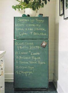 chalk board fridge